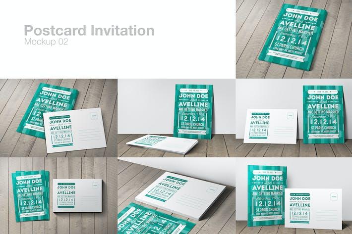 Thumbnail for Postkarte Einladung Mockup