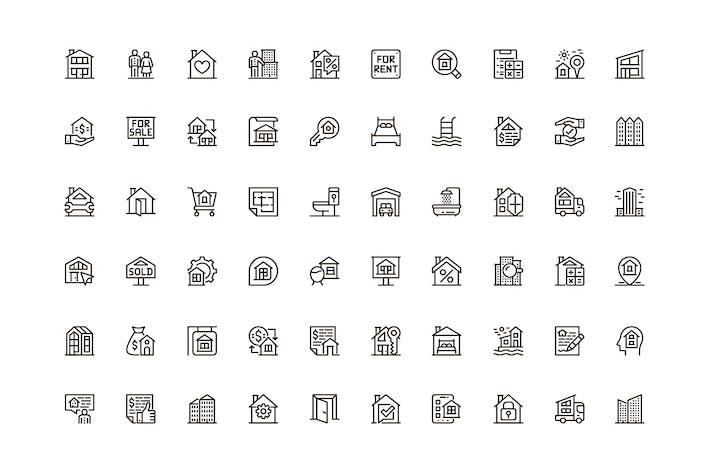 Real Estate Unique Web Line Icons Pack