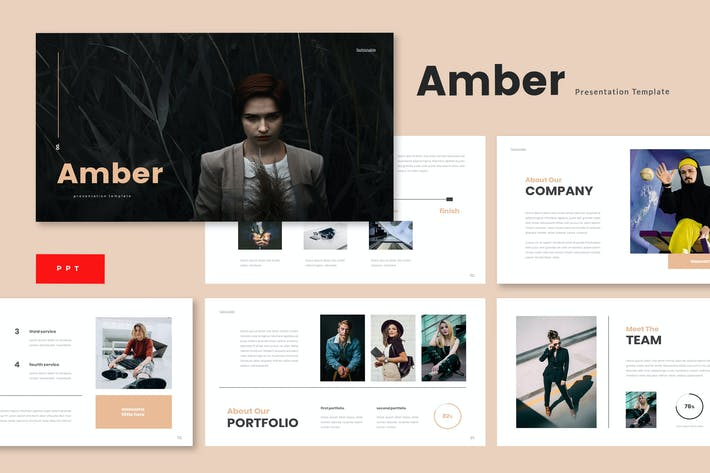 Thumbnail for Amber - Business Powerpoint Template