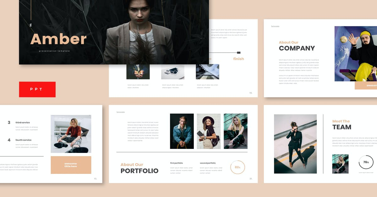 Download Amber - Business Powerpoint Template by 83des