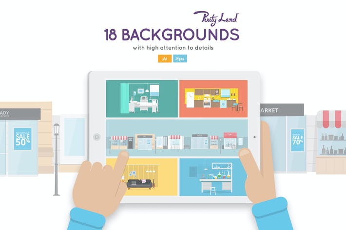 Cover Image For PixityLand Backgrounds