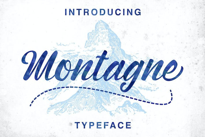 Thumbnail for Montagne Typeface