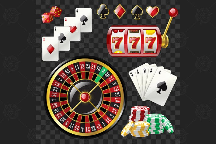 Thumbnail for Set von Casino-Objekten - Vektor realistische ClipArt
