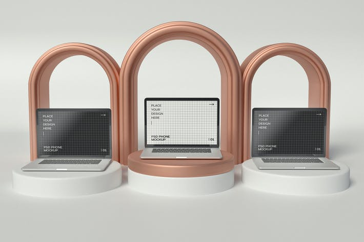 Tablet With Rings Mockup