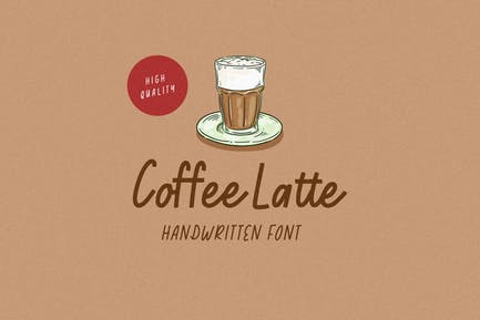Café Latte - Fuente manuscrita