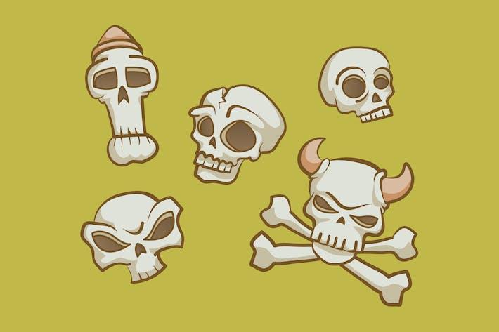 Thumbnail for Skull Set Clipart
