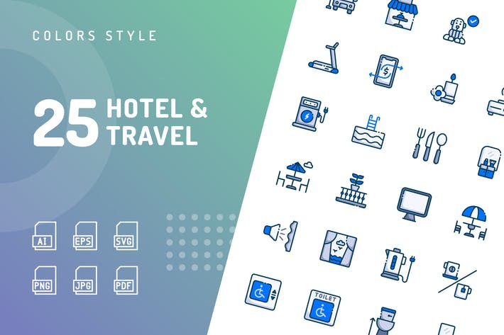 Thumbnail for Hotel & Travel Filled Icons