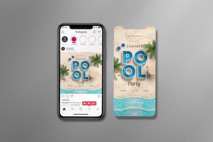 Summer Pool Party Instagram Set