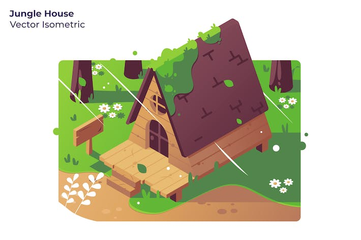 Jungle House - Vector Illustration