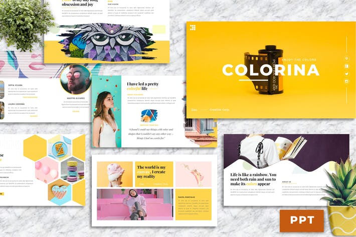 Colorina – Creative Business PowerPoint Template