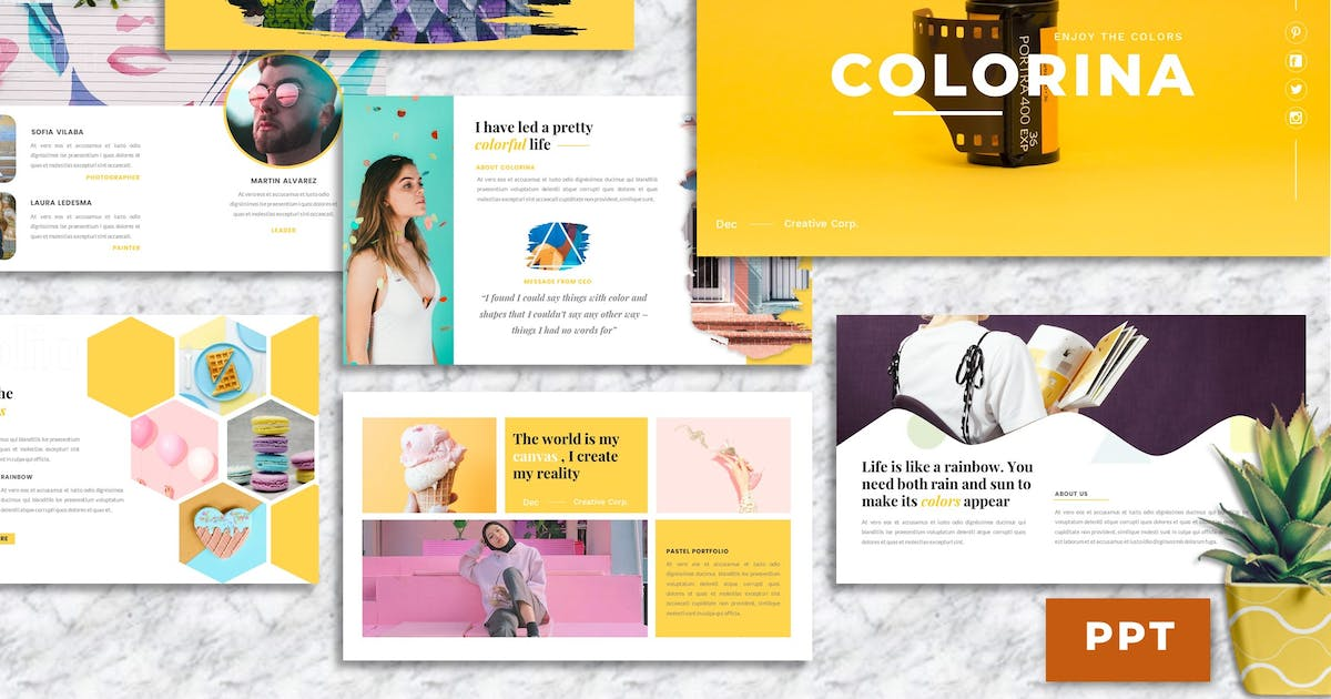 Download Colorina – Creative Business PowerPoint Template by Yumnacreative