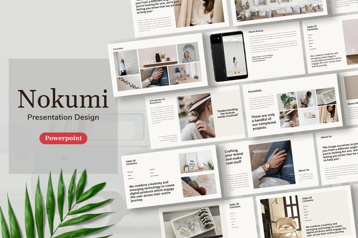 Thumbnail for Nokumi - Шаблон презентации Powerpoint