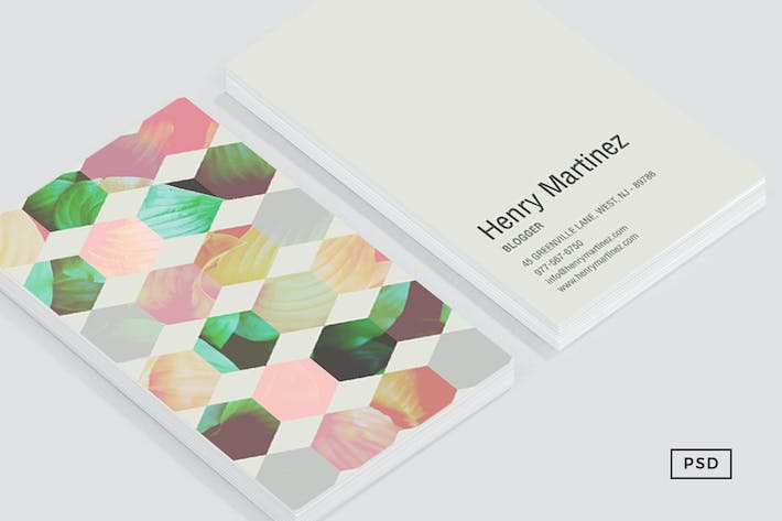 Thumbnail for Hexagon Business Card Template