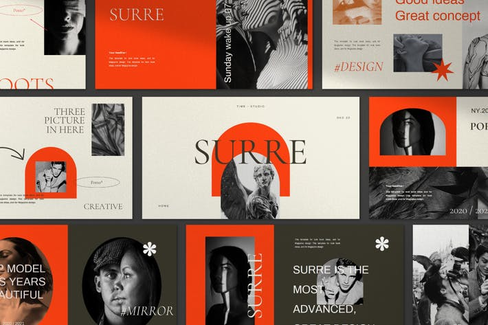Surre - Creative Agency Google Slides