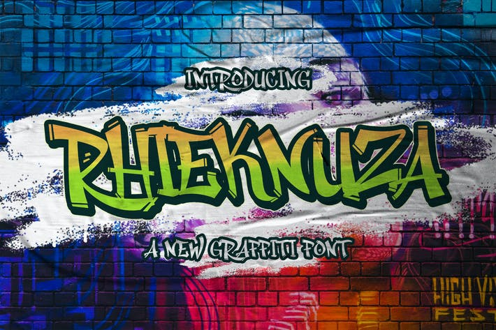 Thumbnail for Rhieknuza - Graffiti Font