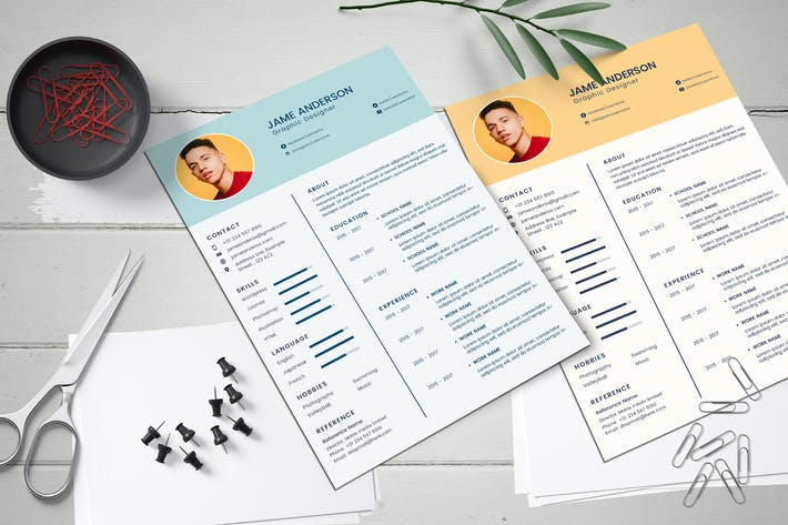 Thumbnail for CV Resume Simple Clean Template