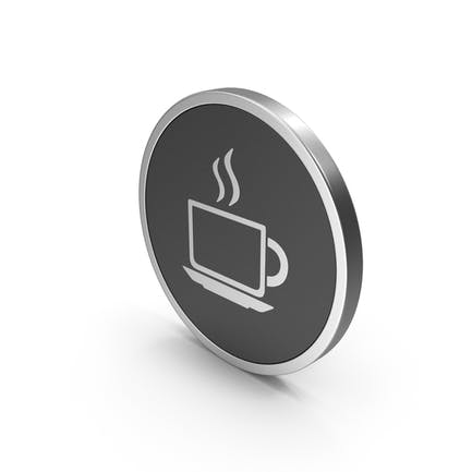 Silver Icon Coffee Cup