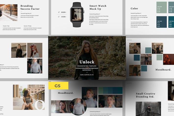 Cover Image For Unlock Business Brand Google Slide