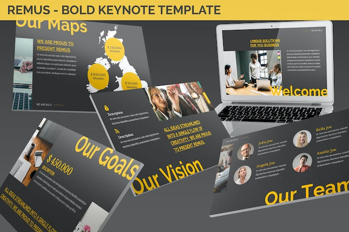 Thumbnail for Remus - Bold Keynote Template