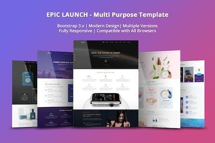Epic Launch Vorlage für hochkonvertierende Zielseite