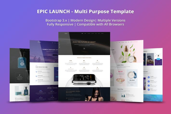 Epic Launch HighConverting Landing Page Template By EpicThemes On - High converting landing page templates