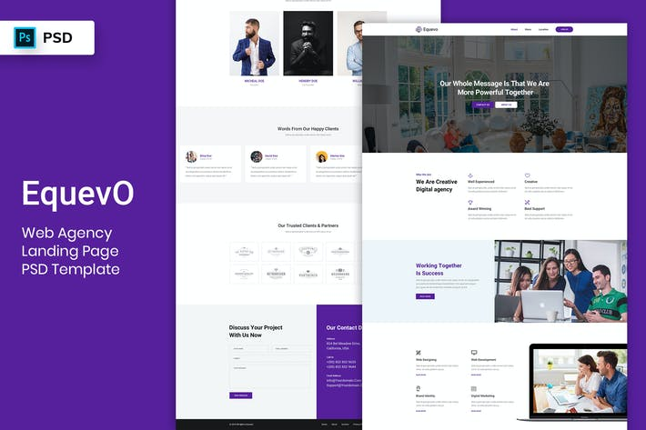 Thumbnail for Web Agency - Landing Page PSD Template