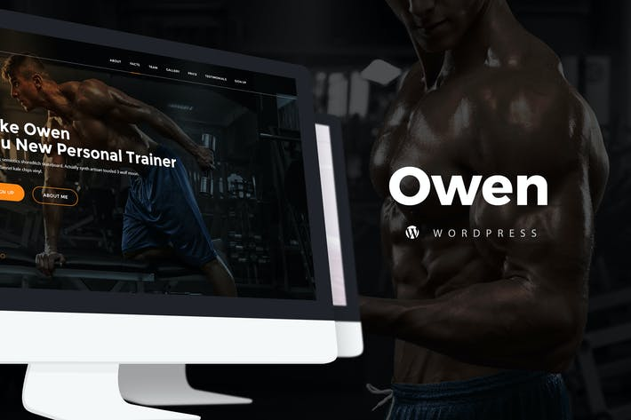 Thumbnail for Owen - Personal Trainer WordPress Theme