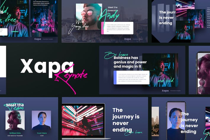 Thumbnail for XAPA - Modern Keynote Template