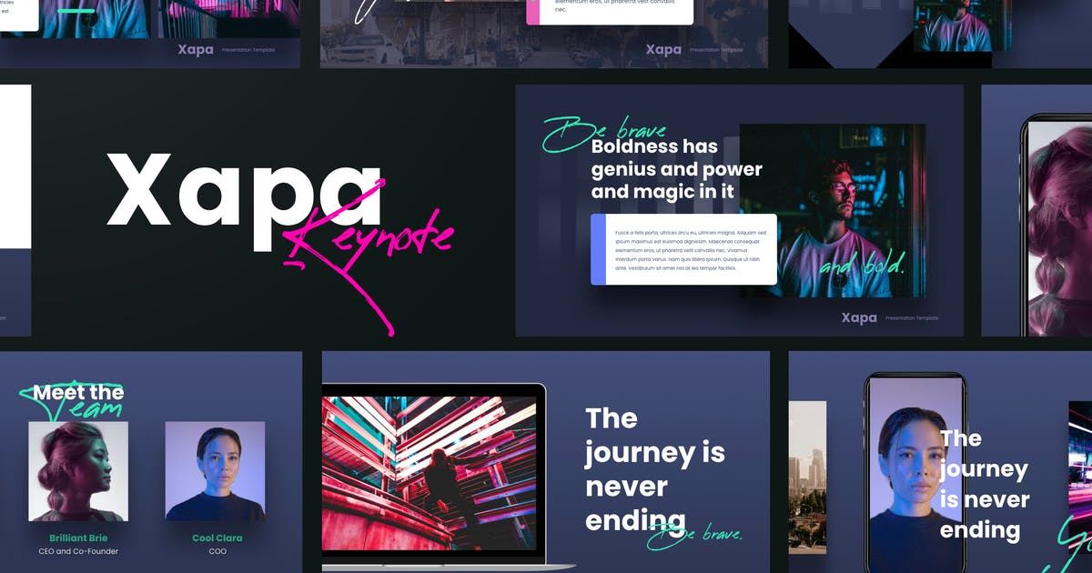Download XAPA - Modern Keynote Template by Slidehack
