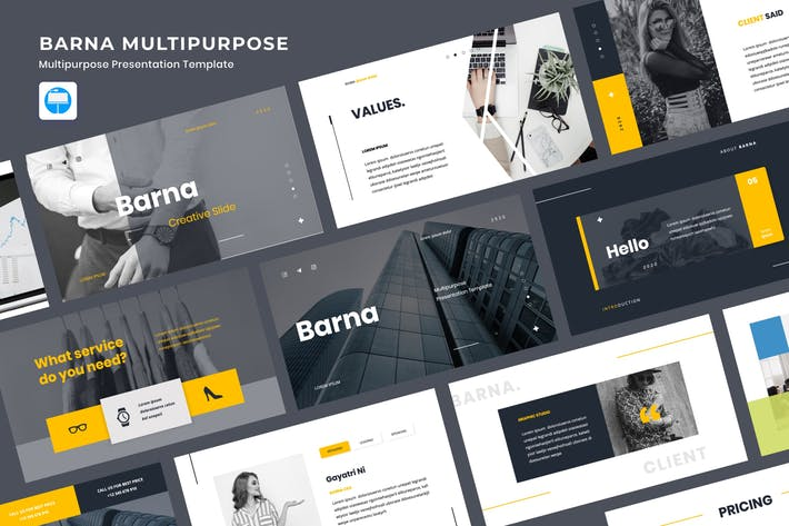 Thumbnail for BARNA - Multipurpose Presentation Keynote
