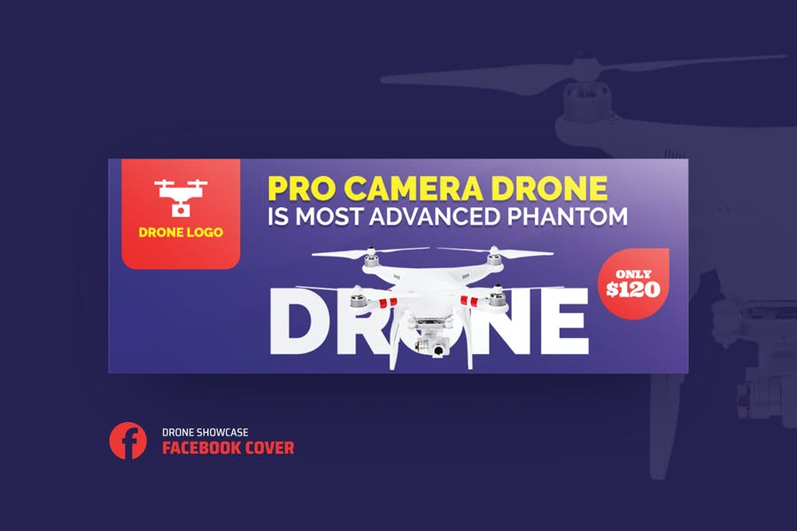 Drone Product Showcase Facebook Cover