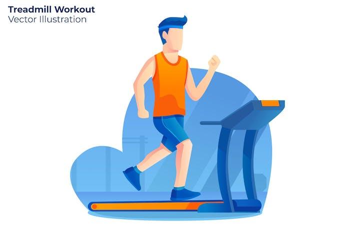 Thumbnail for Treadmill Workout - Vector Illustration