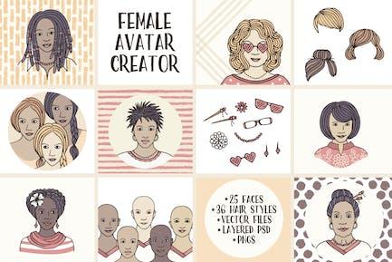 Weiblicher Avatar Schöpfer