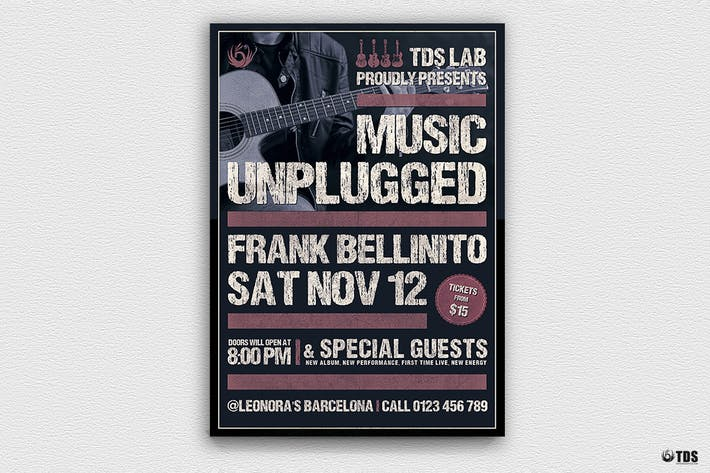 Thumbnail for Music Unplugged Flyer Template