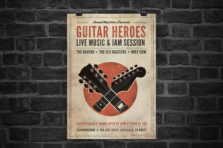 Cover Image For Guitar Heroes Flyer