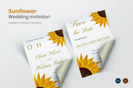 Sunflower Shine Hochzeitseinladung
