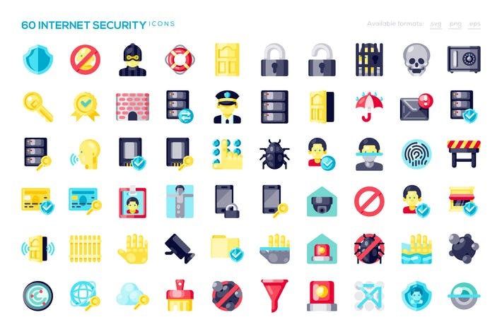 Thumbnail for 60 Internet Security Icons
