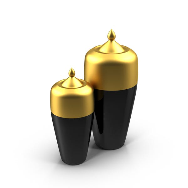 Cover Image for Black and Gold Vases