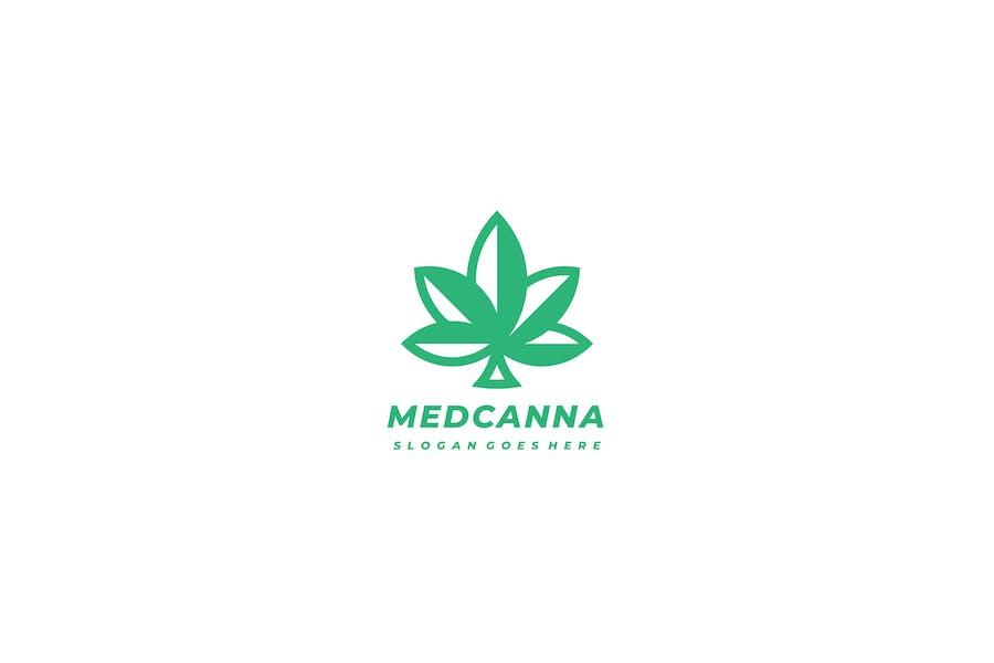 Логотип медицинского конопли