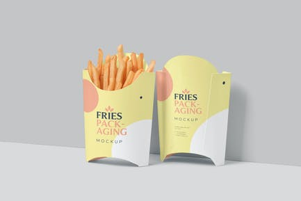 Fries Box Mockups