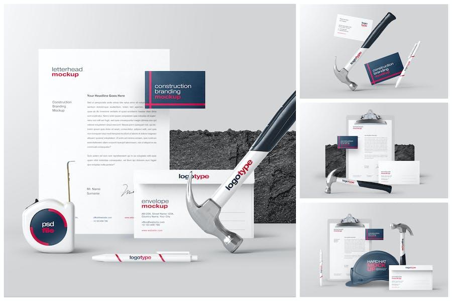 Construction Branding Mockup Set