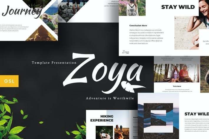 Thumbnail for Zoya - Nature Google Slides Template