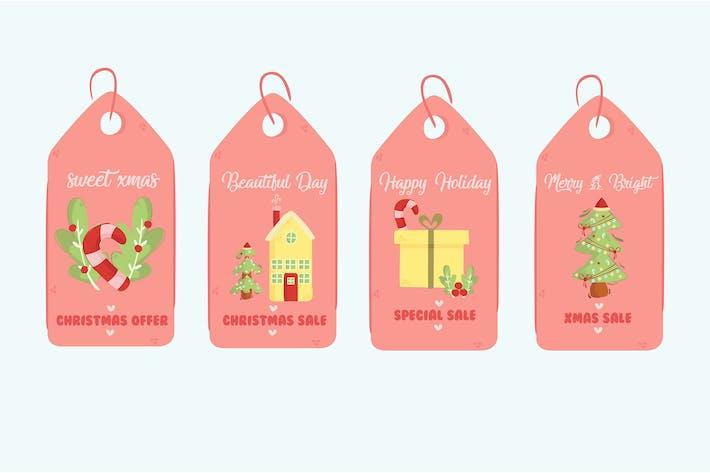 Thumbnail for Christmas Sale Tag Illustration