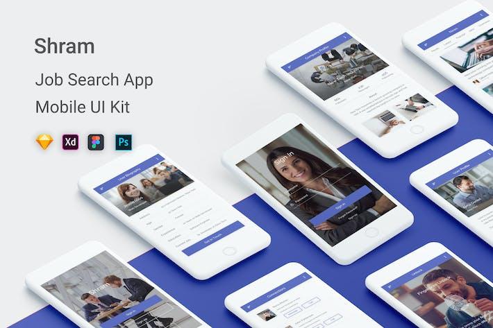 Thumbnail for Shram - Job Search UI Kit