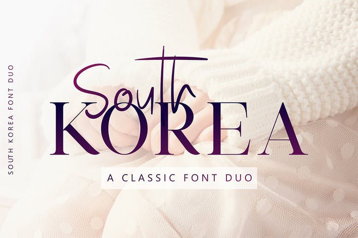 Thumbnail for South Korea - Font Duo