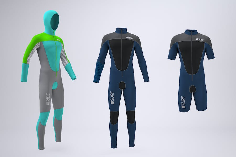 Wetsuit With Front Zipper Mock-Up