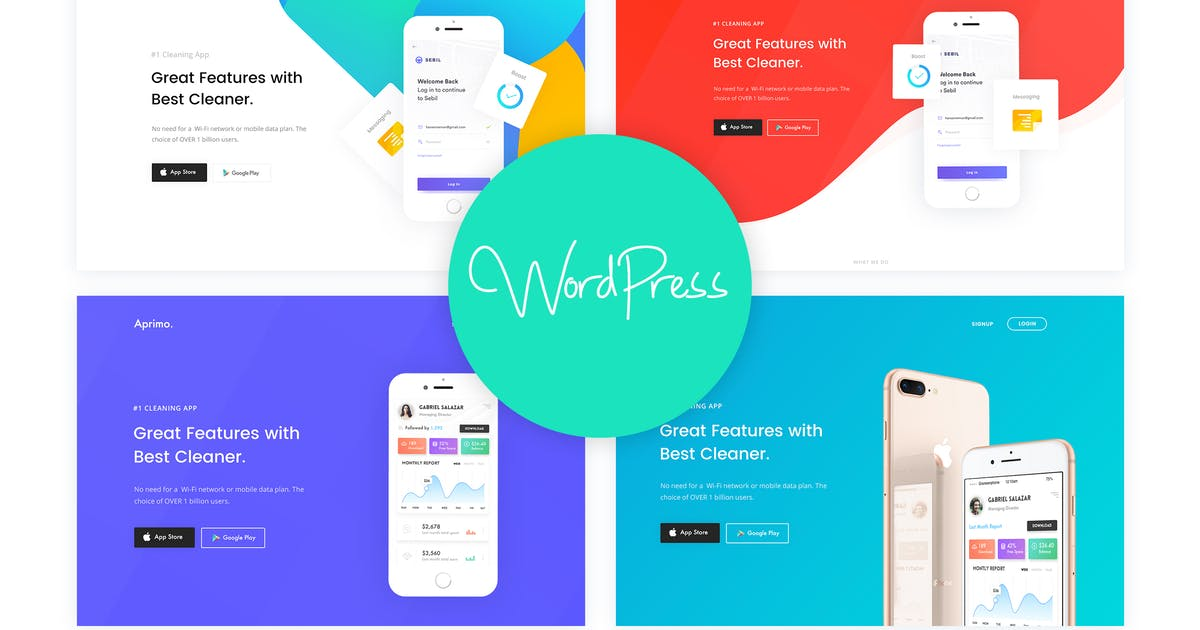 Download Aprimo - Mobile & App Landing WordPress Theme by CreativeGigs