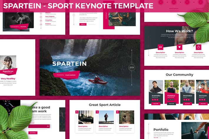 Thumbnail for Spartein - Sport Keynote Template