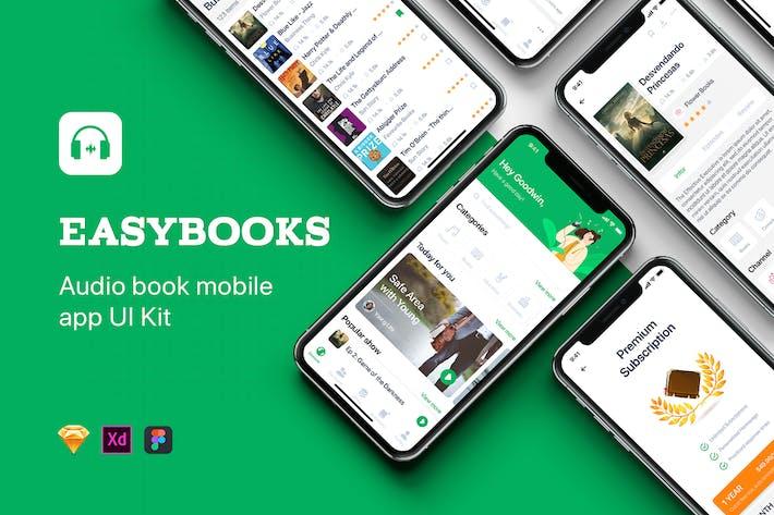 Thumbnail for Easybooks - Audiobook UI Kit