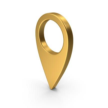 Знак местоположения на карте Gold